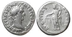Ancient Coins - Nerva 96-98 Silver Denarius AEQVITAS \ Roman Coins