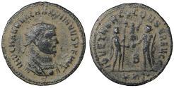 Ancient Coins - Maximianus Æ Antoninianus Antioch AD 285-295 XF Jupiter \ Roman Coins