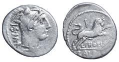 Ancient Coins - L. Thorius Balbus. Rome. Denarius 105 BC.