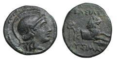 Ancient Coins - Kingdom of Thrace Lysimachos 323-281 BC Bronze UNC