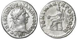 Ancient Coins - TRAJAN 98-117 Denarius Rome XF+ \ Roman Coins
