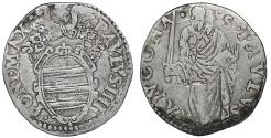 World Coins - Papal States ANCONA Paul IV 1555-1559 Giulio Rare VF\XF