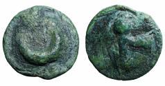 Ancient Coins - Italy. Northern Apulia, Luceria. 217-212 BC. Rare. Emerald green patina. VF+