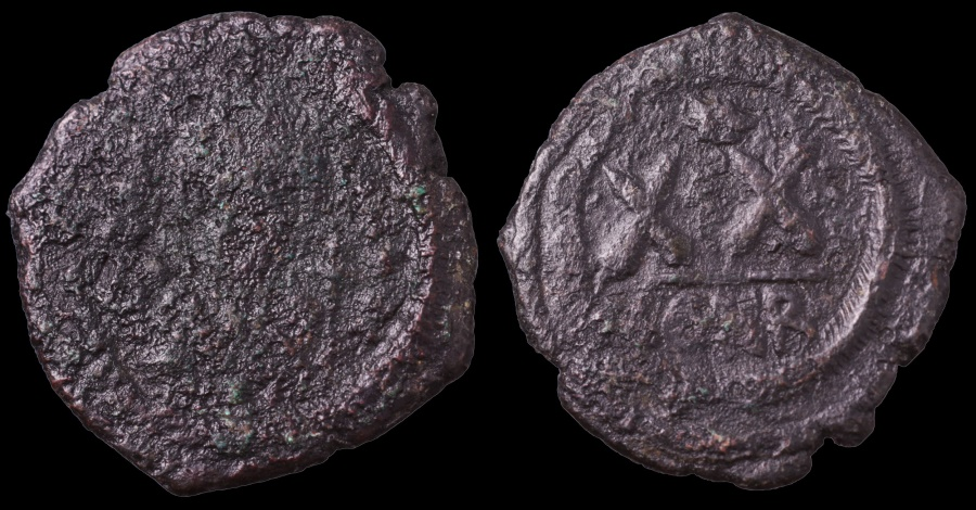 Ancient Coins - SCARCE Phocas 602 – 610 AD. Æ 20 Nummi or Half Follis Thessalonica mint.