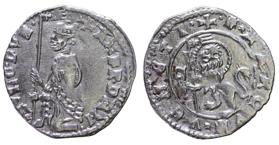World Coins - REPUBLIC OF VENICE. Andrea Dandolo. 1343-1354 AD. SOLDINO NUOVO TIPO.