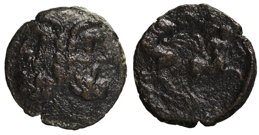 Ancient Coins - Macedonia, Thessalonica AE17. After 88 BC. head of Janus \ two Centaurs