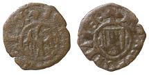 World Coins - Italy Kingdom of Sicily Alfonso Denaro Messina 1416-1458 AD. XF