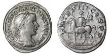 Ancient Coins - Gordian III Denarius 240 AD \ Gordian on horseback \ Rare. XF+