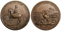 """World Coins - Germany Medal 1757. """"Victories of Rosbach and Lissa"""" 48.00 mm - 37,35 gr. XF"""