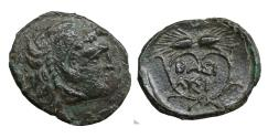 Ancient Coins - Kings of Thrace Uncertain mint Lysimachos 305-281 BC Bronze Æ  Scarce aXF