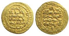 World Coins - ISLAMIC Persia Samanids Nuh II ibn Mansur Gold AV Dinar H 365-387 / AD 976-997 XF