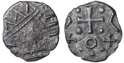 World Coins - Early Anglo-Saxon England 695-740 AD AR Sceat Rare. aXF