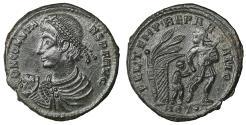 Ancient Coins - Constans AD 337-350 Aquileia 3rd officina Maiorina Rare UNC \ Roman Coins
