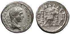 Ancient Coins - Elagabalus. Denarius. Rome, AD 218-222. \ FIDES EXERCITVS \ VF+