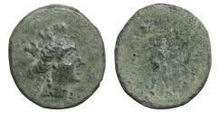 Ancient Coins - Phrygia Apameia 88-40 BC Bronze Artemis-Tyche