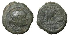 Ancient Coins - Seleukid Kingdom Antiochos IV Epiphanes AD 38-72 Bronze VF\XF