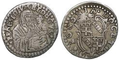 World Coins - Papal Sates BOLOGNA Innocent XII 1691-1700 Carlino with Virgin 1692 R2 UNC