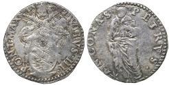 World Coins - Papal States Ancona Julius III 1550-1555 Giulio VF+ Rare