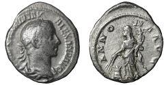 Ancient Coins - Severus Alexander. 222-235 AD. AR Denarius. VF+ ANNONA
