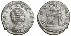 Ancient Coins - Julia Domna Augusta 193-217 Denarius PVDICITIA VF+