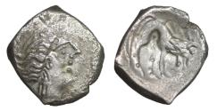 Ancient Coins - Cisalpine Gaul Insubres Silver Drachm 2nd century BC Rare VF\XF