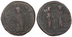 Ancient Coins - Constantine X Ducas and Eudocia AD 1059-1067 Follis  VF+