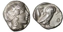 Ancient Coins - ATTICA. Athens. Tetradrachm 454-404 BC XF