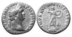 Ancient Coins - DOMITIAN 81-96 Denarius. Rome Minerva UNC