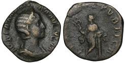 Ancient Coins - Julia Mamaea. (Severus Alexander, 222-235). Sestertius, Rome, AD 222-235. VF