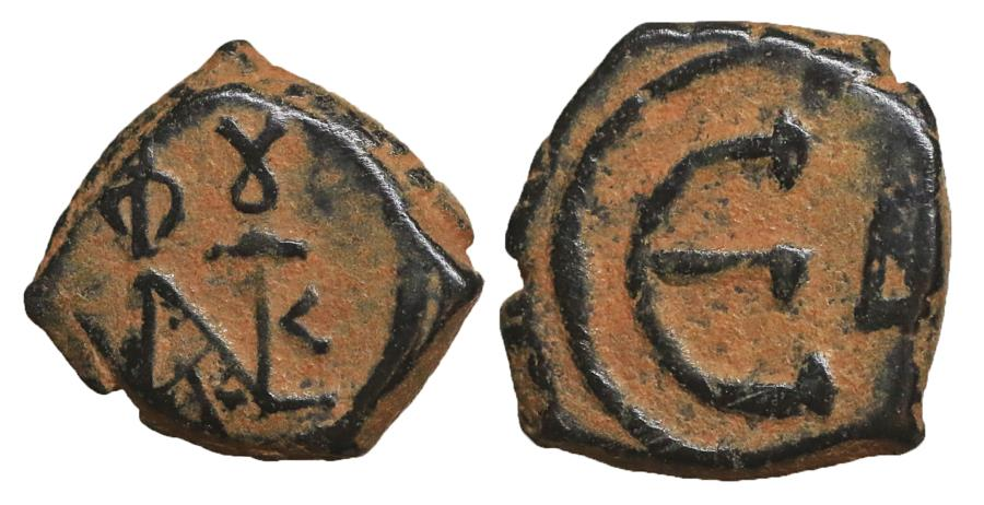 Ancient Coins - Justin II 565-578 AE pentanummium Nicomedia mint XF \ Byzantine Coins