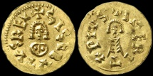 Ancient Coins - Visigoth. Sisebut. 612-621 AD. Gold Tremissis Extremely fine