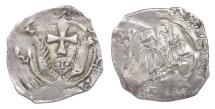World Coins - Austria. Salzburg. Eberhard II. 1200-1246 AD. AR Pfennig. 1,33 gr.-17,00 mm. VF