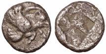 Ancient Coins - IONIA, Klazomenai. AR Diobol. Circa 499-494 BC. - VF\XF - greek coin