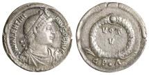 Valentinian I. 364-375 AD. AR siliqua. Rare. XF.