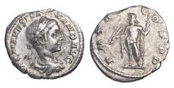 Ancient Coins - SEVERUS ALEXANDER 225 - 235 AD DENARIUS Jupiter VF+