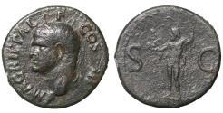 Ancient Coins - Agrippa. died 12 BC. AE As.  Dark-green patina. VF+. RARE