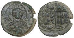 Ancient Coins - Romanus III 1028-1034 AE follis Class B Byzantine coin