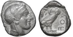 Ancient Coins - Attica Athens AR Tetradrachm 454-404 BC XF\UNC