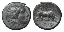 Ancient Coins - Seleukid Kingdom Seleukos I Nikator 312-281 BC Bronze UNC