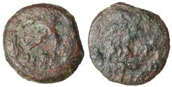Ancient Coins - JUDAEA Roman Procurators Antonius Felix 52-60 AD AE Prutah VF, brown patina.