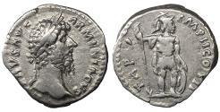 Ancient Coins - Lucius Verus. 161-169AD. Denarius Mars XF