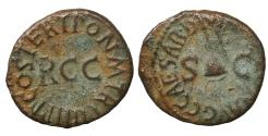 Ancient Coins - Caligula 37-41 AD Quadrans XF Rome 39-40 AD