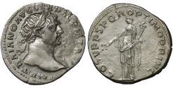 Ancient Coins - Trajan 103-111 AD Denarius XF Aequitas  \ Roman Coins