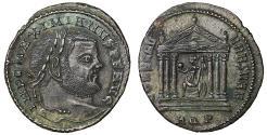 Ancient Coins - Maximianus Æ Follis Aquileia AD 307 XF\UNC Rare \ Roman Coins