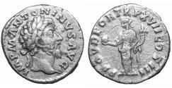 Ancient Coins - Marcus Aurelius as Augustus AD 161–180 Silver denarius Providentia aXF
