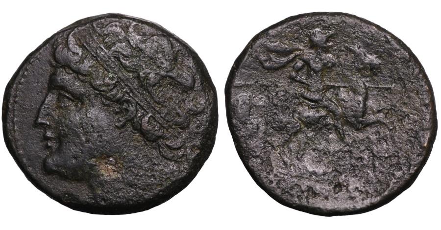 Ancient Coins - SICILY. SYRACUSE. HIERON II. 275-215 BC. HEMILITRON