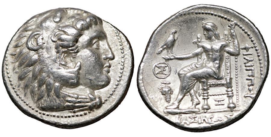 Ancient Coins - Seleukid Seleukos I as satrap Tetradrachm Babylon II mint circa 320-315 BC XF