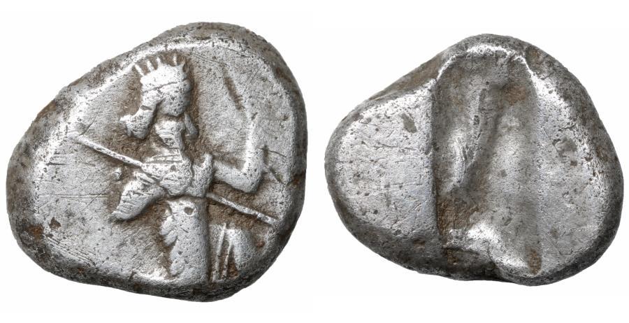 Ancient Coins - Persia Achaemenid Empire AR Archaic Siglos Time of Darios I to Xerxes I 505-480 BC VF\XF