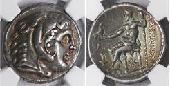 Ancient Coins - MACEDON Kassander As regent 317-305 BC AR Tetradrachm NGC XF