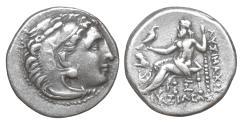 Ancient Coins - Thrace Kings Lysimachos 323-281 BC AR Drachm XF+
